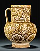 A LARGE KASHAN LUSTRE JUG, PERSIA,CIRCA 1200 |
