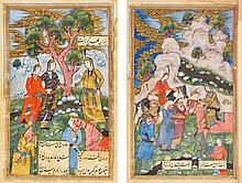 VAHSHI BAFQI, FARHAD VA SHIRIN, COPIED BY MUHAMMAD HAKIM AL-HUSAYNI, PERSIA, MASHHAD, SAFAVID, DATED 1046 AH/1636-37 AD |