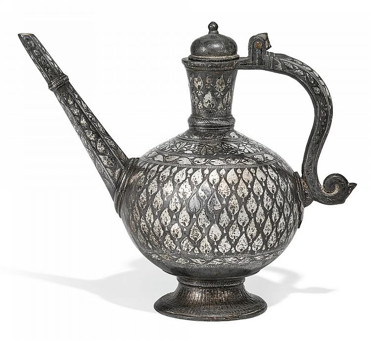 A BIDRIWARE EWER, INDIA, DECCAN, 18TH CENTURY |