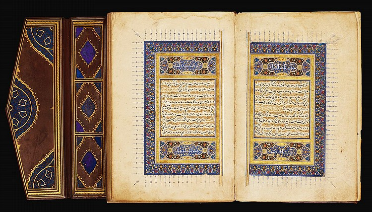 SA'ADI (D.1292 AD), KULLIYAT, SIGNED BY NA'IM AL-DIN AL-KATIB, PERSIA, SHIRAZ, TIMURID, DATED 890 AH/1486 AD AND 899 AH/1494 AD |
