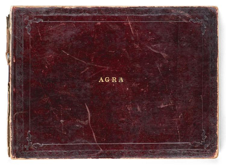 AN ALBUM OF ARCHITECTURAL AND FLORAL STUDIES, INDIA, AGRA, COMPANY SCHOOL, MID-19TH CENTURY |