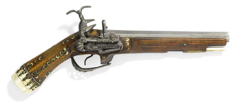 A RARE OTTOMAN IVORY-INLAID FLINTLOCK PISTOL, TURKEY, 17TH CENTURY |