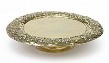 A CHARLES II SILVER-GILT SALVER ON FOOT, MAKER'S MARK TB OR JB CONJOINED, CIRCA 1670 |