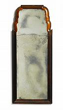 QUEEN ANNE WALNUT LOOKING GLASS, ENGLAND, EARLY 18TH CENTURY |