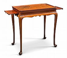 THE GARDINER FAMILY VERY FINE AND RARE QUEEN ANNE TRAY-TOP TEA TABLE WITH CANDLE SLIDES, BOSTON, MASSACHUSETTS, CIRCA 1760  