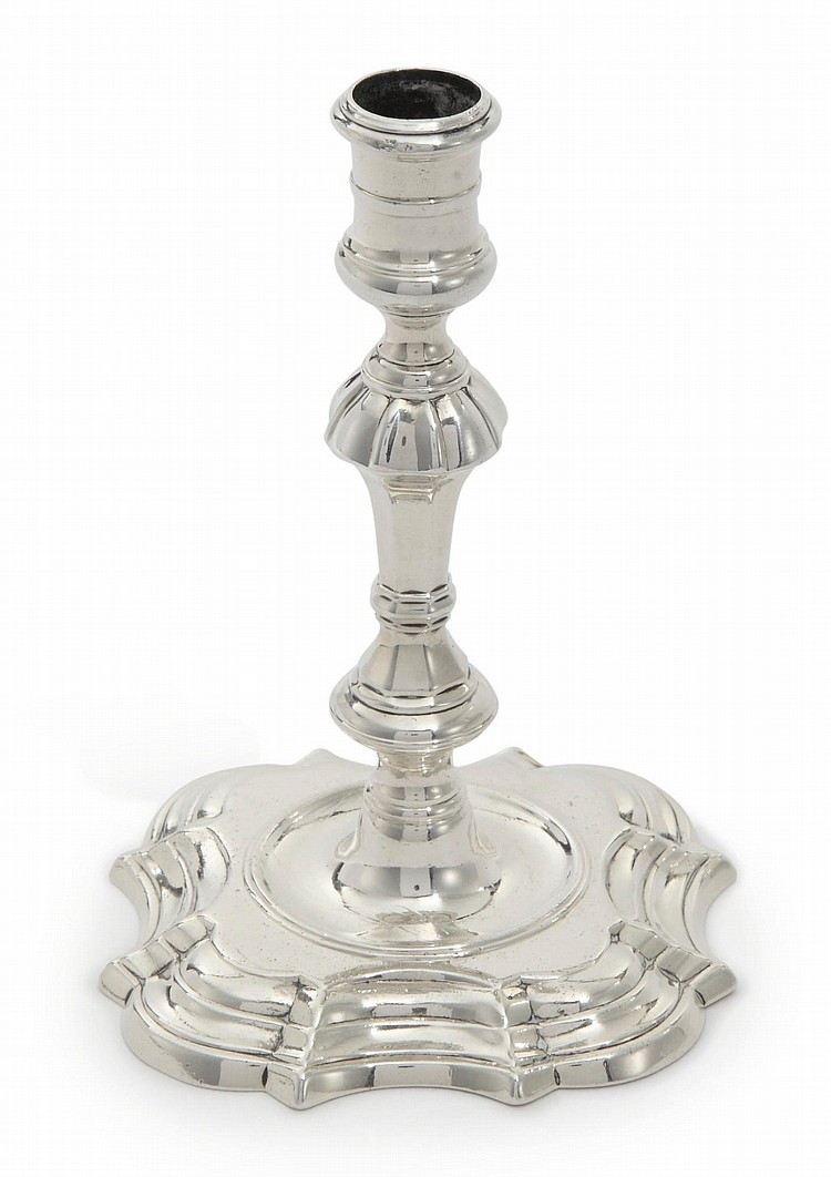 A GEORGE II SILVER TAPERSTICK, WILLIAM GOULD, LONDON, 1743 |