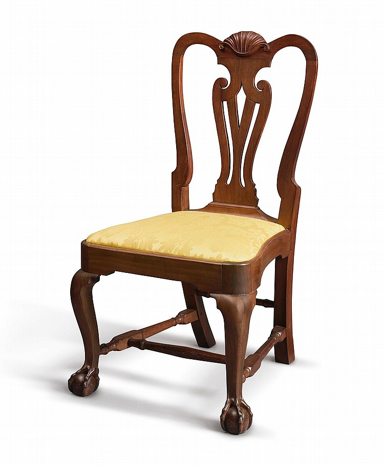 FINE AND RARE QUEEN ANNE SHELL-CARVED MAHOGANY COMPASS-SEAT SIDE CHAIR, ATTRIBUTED TO JOHN GODDARD, NEWPORT, RHODE ISLAND, CIRCA 1765 |
