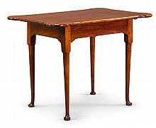 FINE QUEEN ANNE MAHOGANY PORRINGER-TOP TABLE, RHODE ISLAND, CIRCA 1770  