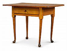 QUEEN ANNE MAPLE SINGLE-DRAWER TAVERN TABLE, NEW ENGLAND, PROBABLY RHODE ISLAND, CIRCA 1770  