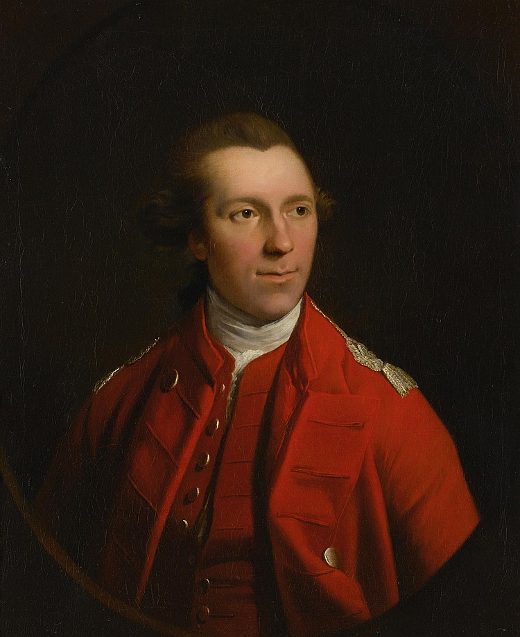 ATTRIBUTED TO ROBERT EDGE PINE (C. 1730 - 1788) | Portrait of a British Officer in Red Uniform