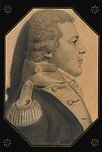 CHARLES BALTHAZAR JULIEN FEVRET DE SAINT-MÉMIN (1770 - 1852)   Portrait of Captain Thomson, Philadelphia