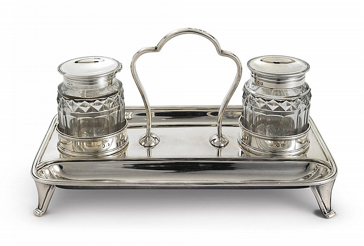 A GEORGE III SILVER INKSTAND, WILLIAM ABDY I, LONDON, 1808 |