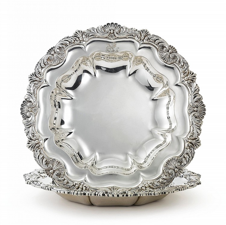 A PAIR OF REGENCY SILVER VEGETABLE DISHES, PAUL STORR, LONDON, 1815 |