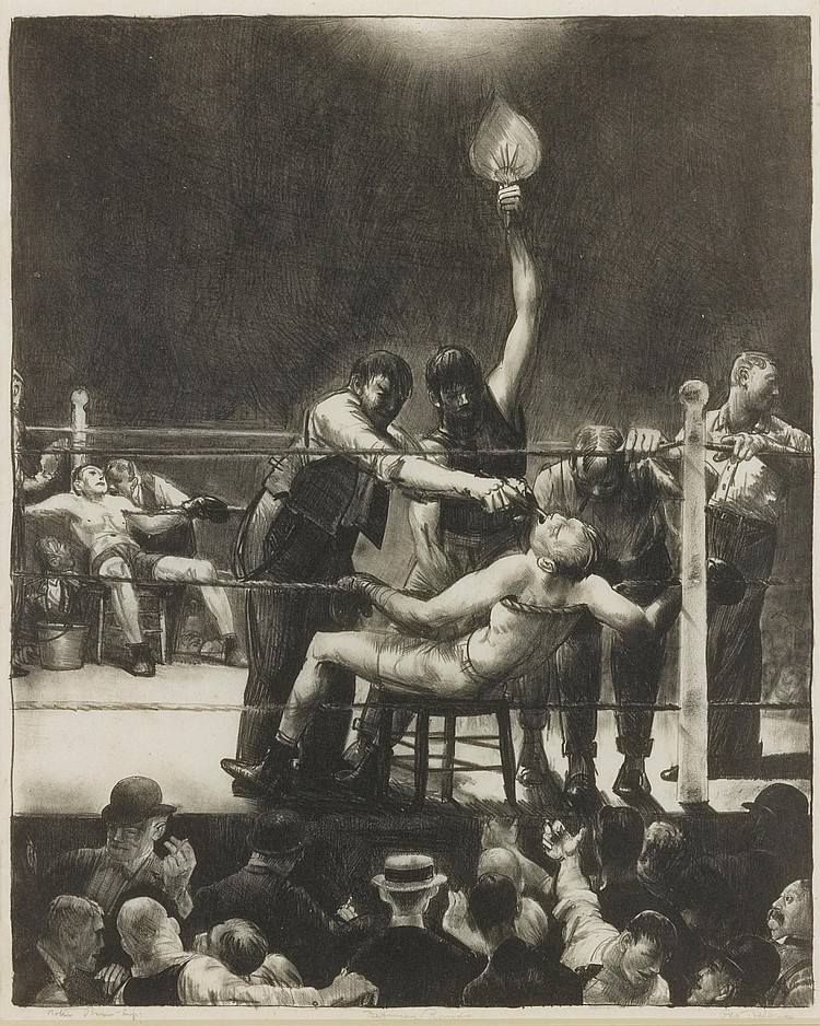 GEORGE BELLOWS | Between Rounds, Small, SecondStone (Mason 144)