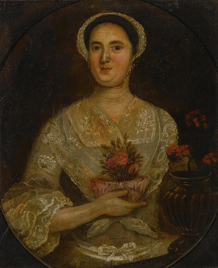 AMERICAN SCHOOL, 18TH CENTURY | Portrait of Susan Sleeper of Brookline, Massachusetts