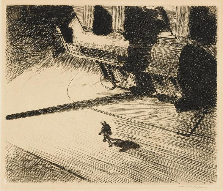 EDWARD HOPPER | Night Shadows (Levin 82)