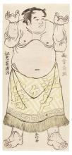 KATSUKAWA SHUNKO (1743-1812) A STANDING SUMO WRESTLER EDO PERIOD, 18TH CENTURY  