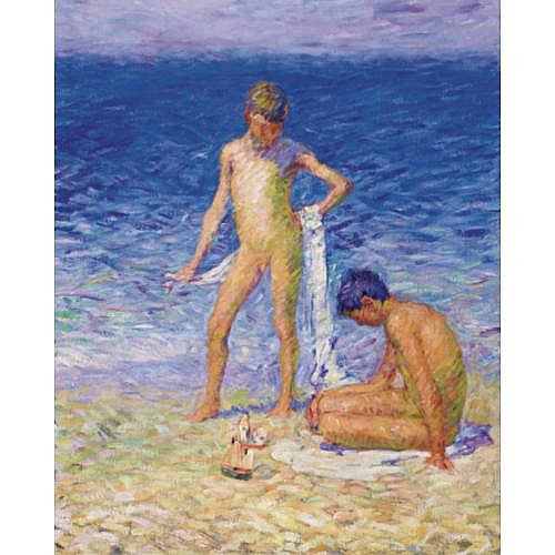 JOHN PETER RUSSELL , BOYS ON THE BEACH, BELLE-ILE