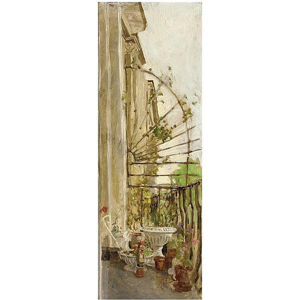 Sarah Raphael , 1960-2001 balcony oil on board