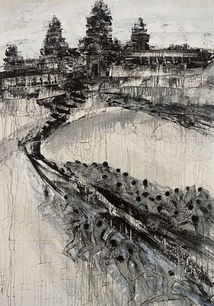 Putu Sutawijaya B. 1971 , Jalan Kebahagian mixed media on canvas