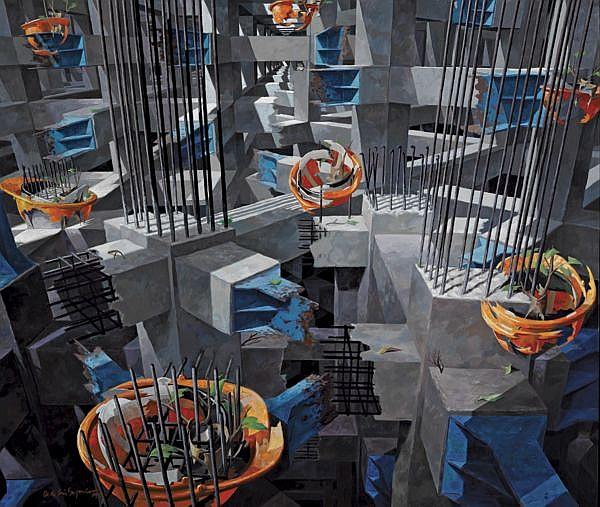 Dede Eri Supria B. 1956 , Mencoba Untuk Tumbuh   acrylic on canvas