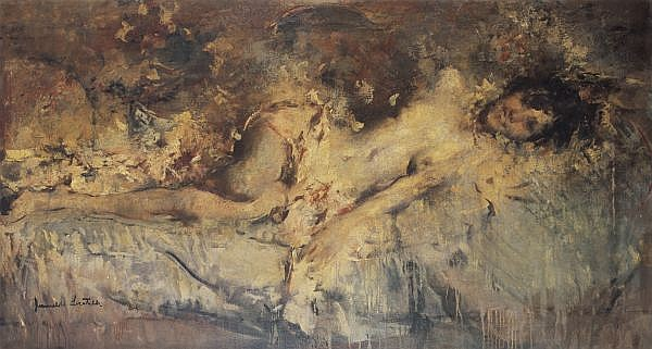 Romualdo Frederico Locatelli 1905-1943 , Estasi oil on canvas