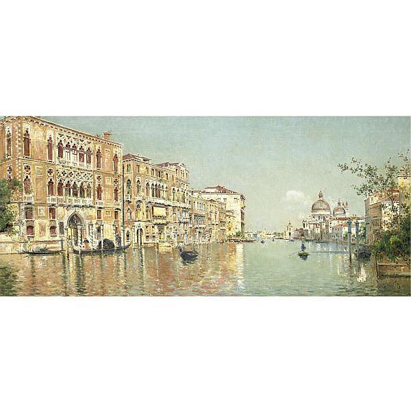 Antonio María de Reyna 1859-1937 , The Grand Canal oil on canvas