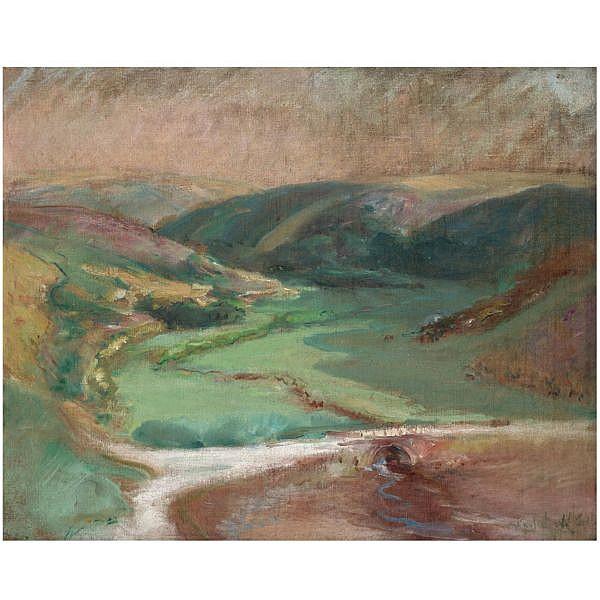 Konstantin Pavlovich Kuznetsov , 1863-1936 Normandy landscape oil on canvas