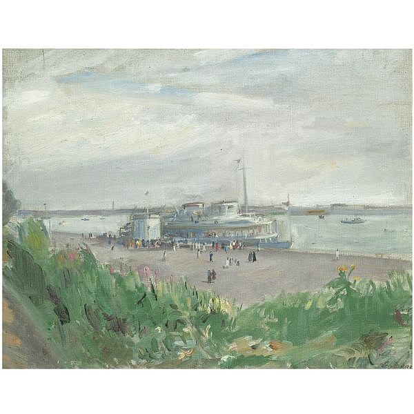 - Alexander Arkadevich Labas , 1900-1983 A departing ship oil on canvas