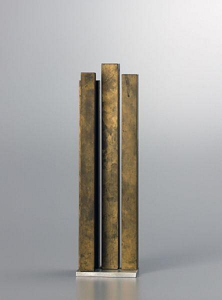 Hans Aeschbacher 1906-1980   Messing- und Aluminiumskulptur