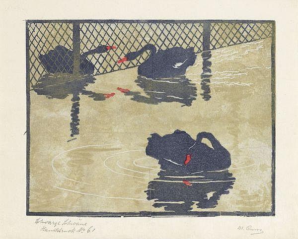Martha Cunz 1876-1961 Originalholzschnitt, Handdruck Nr. 61