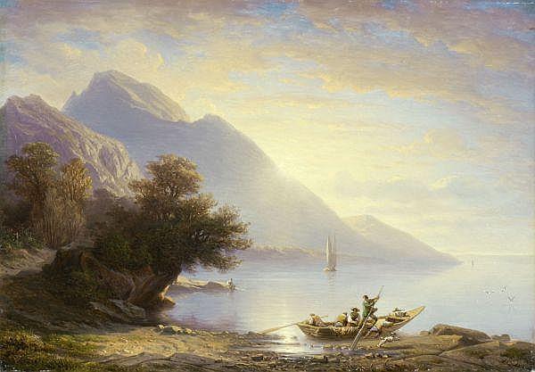 - François Diday 1802-1877 Öl auf Leinwand
