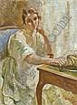 Otto Vautier 1863-1919 Öl auf Leinwand   , Otto (1863) Vautier, Click for value