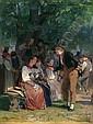 - Edouard Girardet 1819-1880 Öl auf Holz   , Edouard Girardet, Click for value