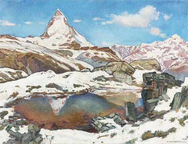 - Charles L'Eplattenier 1874-1946   Öl auf Leinwand