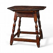WILLIAM AND MARY WALNUT AND PINE SPLAYED-LEGGED TAVERN TABLE, CHESTER COUNTY, PENNSYLVANIA, CIRCA 1750 |
