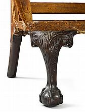 RARE CHIPPENDALE CARVED MAHOGANY COMPASS-SEAT EASY CHAIR, PHILADELPHIA, CIRCA 1765 |