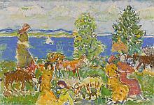 MAURICE BRAZIL PRENDERGAST (1858 - 1924) | Summer Afternoon