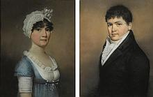JAMES SHARPLES (1751 - 1811) | Portraits of a Man and a Woman: a pair