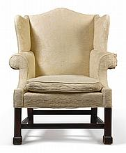 CHIPPENDALE CARVED MAHOGANY WING ARMCHAIR, PHILADELPHIA, CIRCA 1770 |
