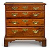 CHIPPENDALE WALNUT CHEST OF DRAWERS |