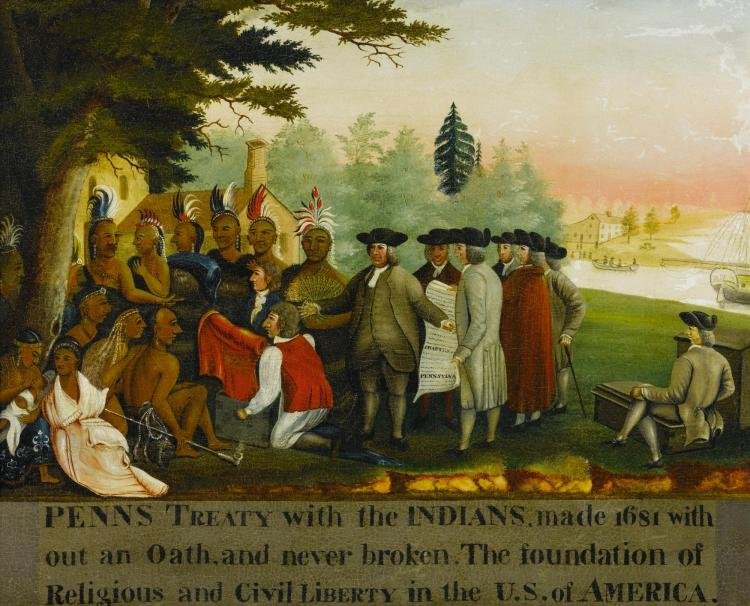 EDWARD HICKS (1780 - 1849) | <em>Penn's Treaty with the Indians</em>
