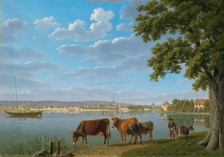 c - JOHANN JAKOB BIEDERMANN WINTERTHUR 1763 - 1830 AUSSERSIHL, SCHWYZ