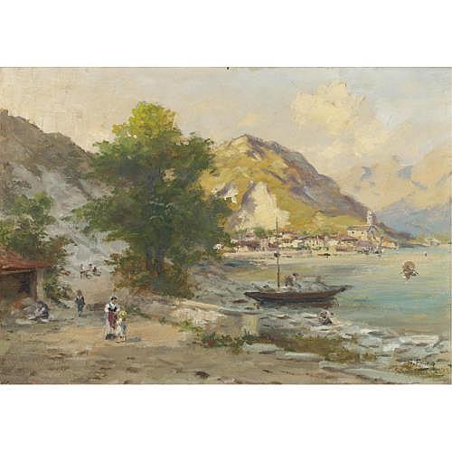 Silvio Poma (Trescore Balneario 1840 - Turate 1932) , cave di granito a feriolo, lago maggiore