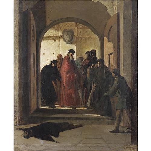 Cristiano Banti (Santa Croce sull'Arno 1824 - Montemurlo 1904) , il ritrovamento del cadavere di lorenzino de medici (la congiura)