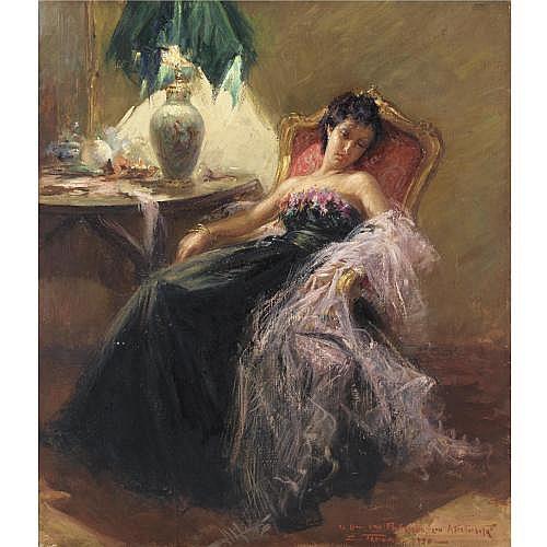 m - Clemente Tafuri (Salerno 1903 - Pegli 1971) , ritratto della contessa parodi di genova