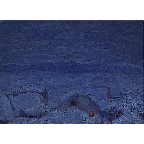 m - Cesare Maggi (Roma 1881 - Torino 1961) , alba d'inverno