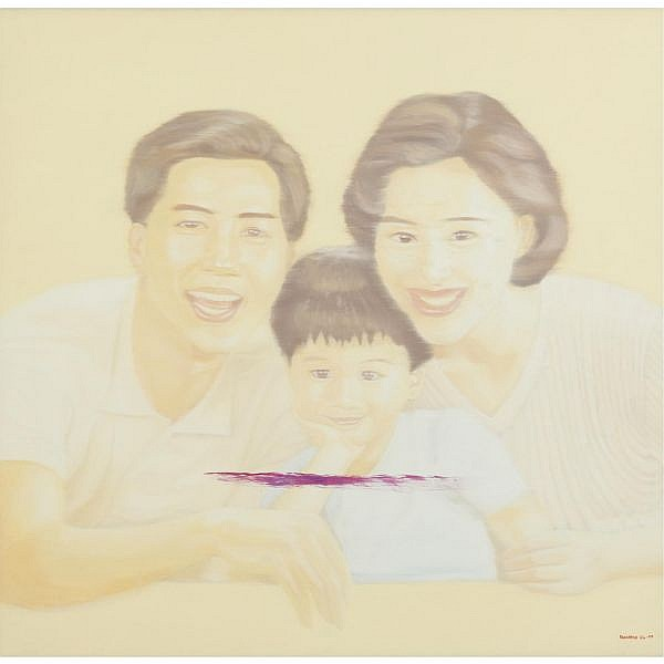 Yang Mian , Family Standard oil on canvas