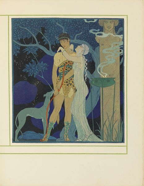 Personnages de comédie . Texte par Albert Flament. Paris, Meynial, 1922. , Barbier, George--Schmied, F. L.--Flament, Albert