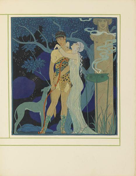 Personnages de comédie . Texte par Albert Flament. Paris, Meynial, 1922. , Barbier, George--Schmied, F. L.--Flament, Albert